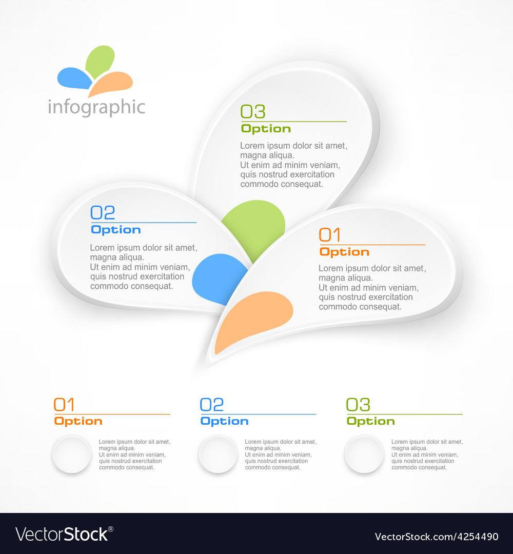 Infographic petal elements vector | Price: 1 Credit (USD $1)