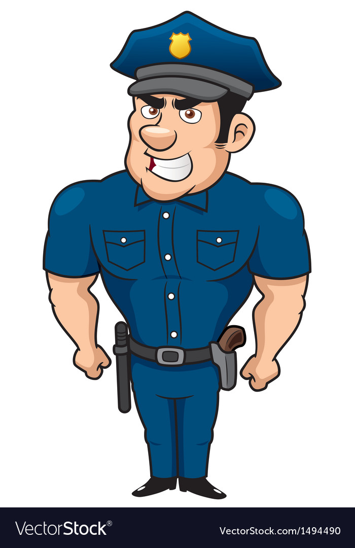 Policeman vector | Price: 1 Credit (USD $1)