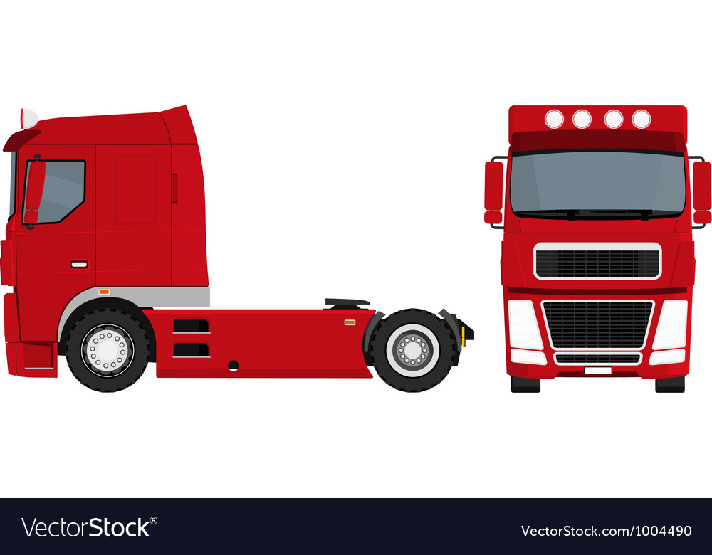 Red truck vector