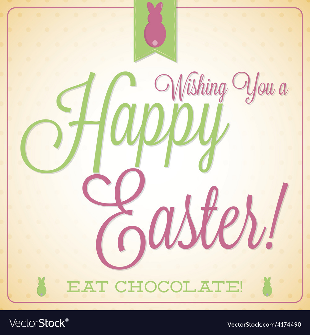 Retro vintage style easter card in format vector | Price: 1 Credit (USD $1)