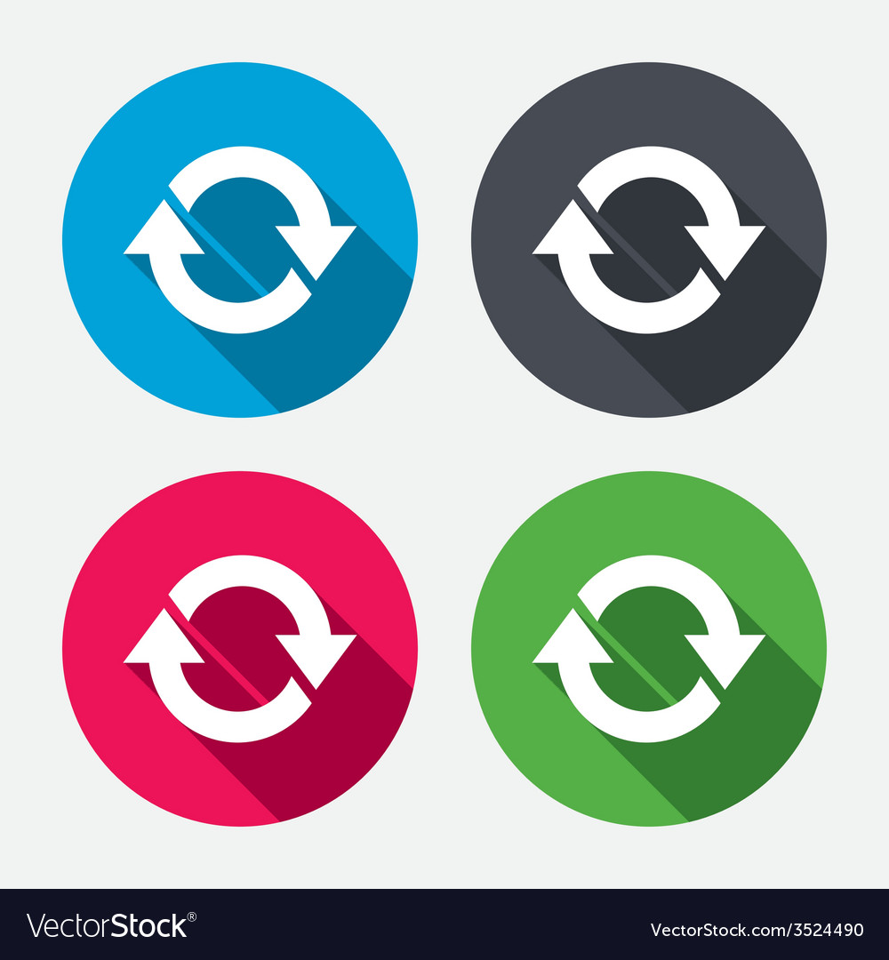 Rotation icon repeat symbol refresh sign vector | Price: 1 Credit (USD $1)