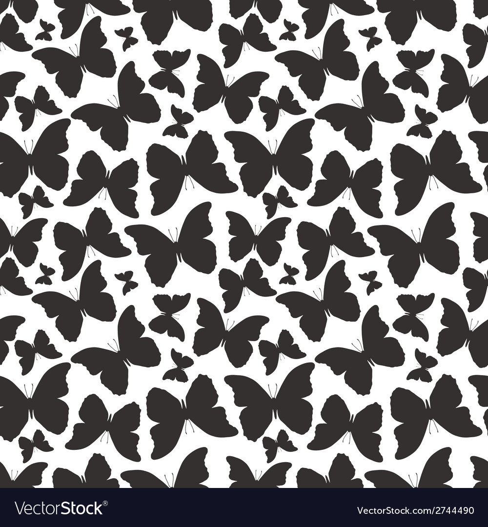 Seamless pattern with silhouette decorative vector | Price: 1 Credit (USD $1)