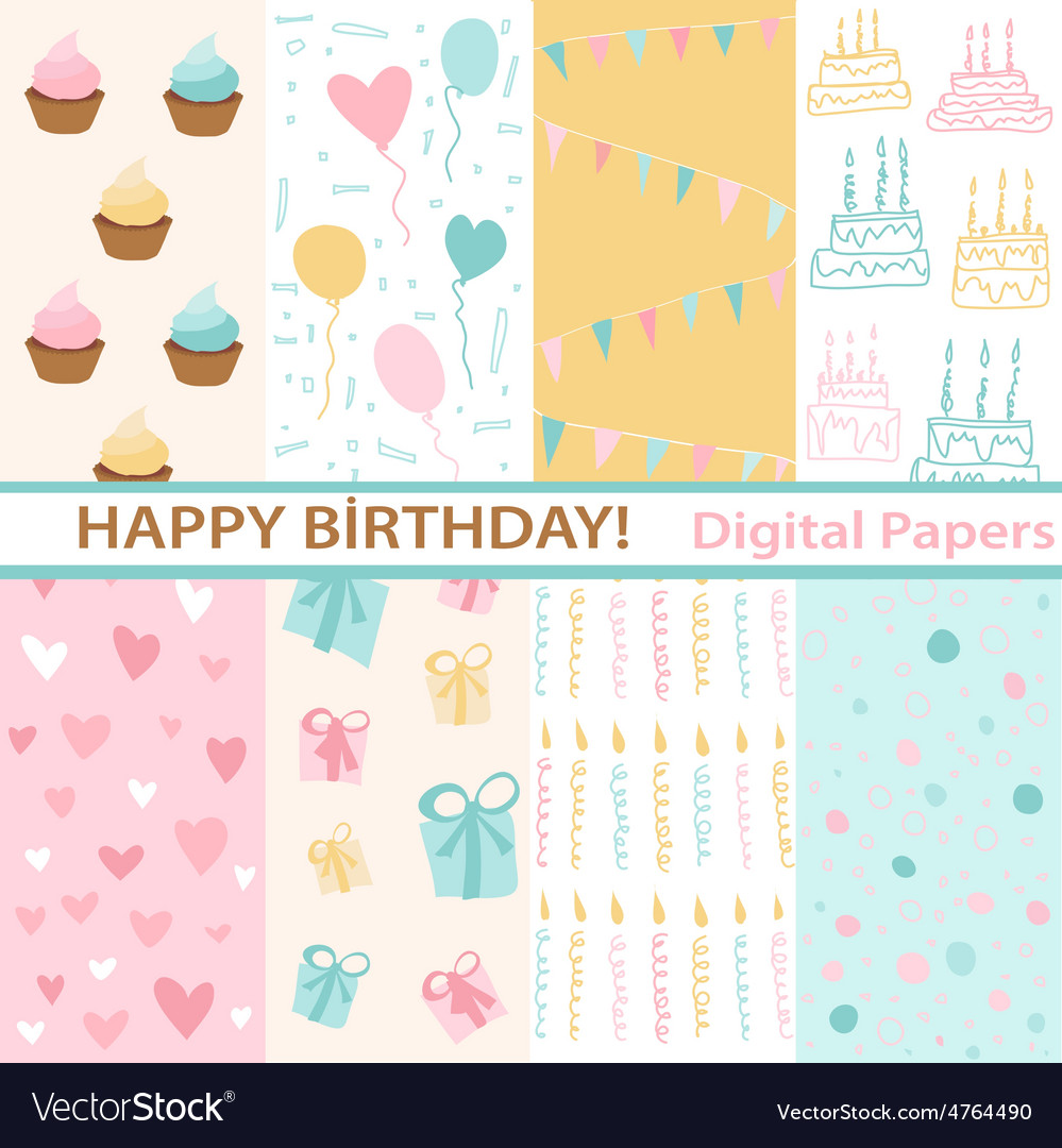 Set of birthday vector | Price: 1 Credit (USD $1)