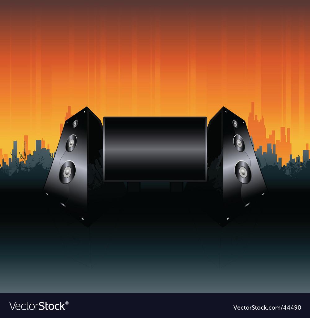 Urban speakers billboard design vector | Price: 1 Credit (USD $1)