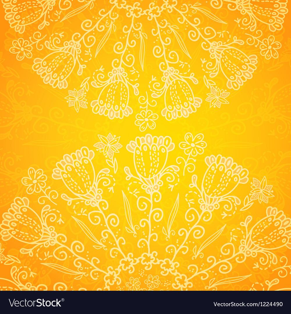 Vintage ethnic ornament orange background vector | Price: 1 Credit (USD $1)