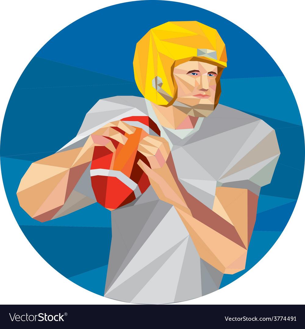 American football quarterback qb low polygon vector | Price: 1 Credit (USD $1)