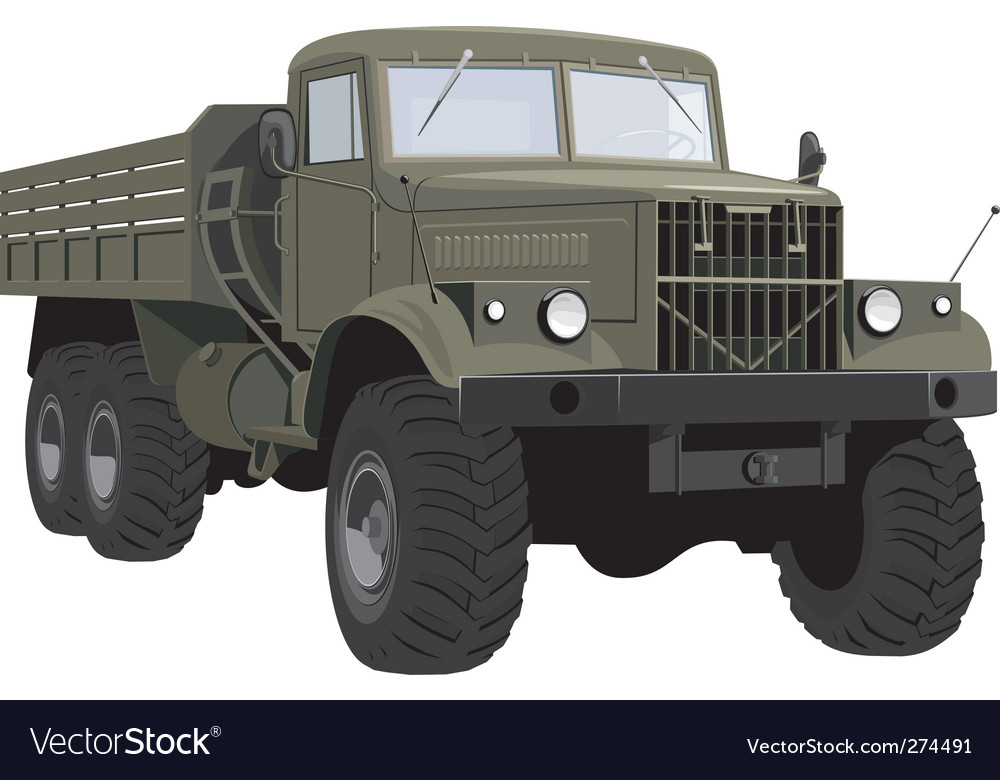 Army truck vector | Price: 3 Credit (USD $3)