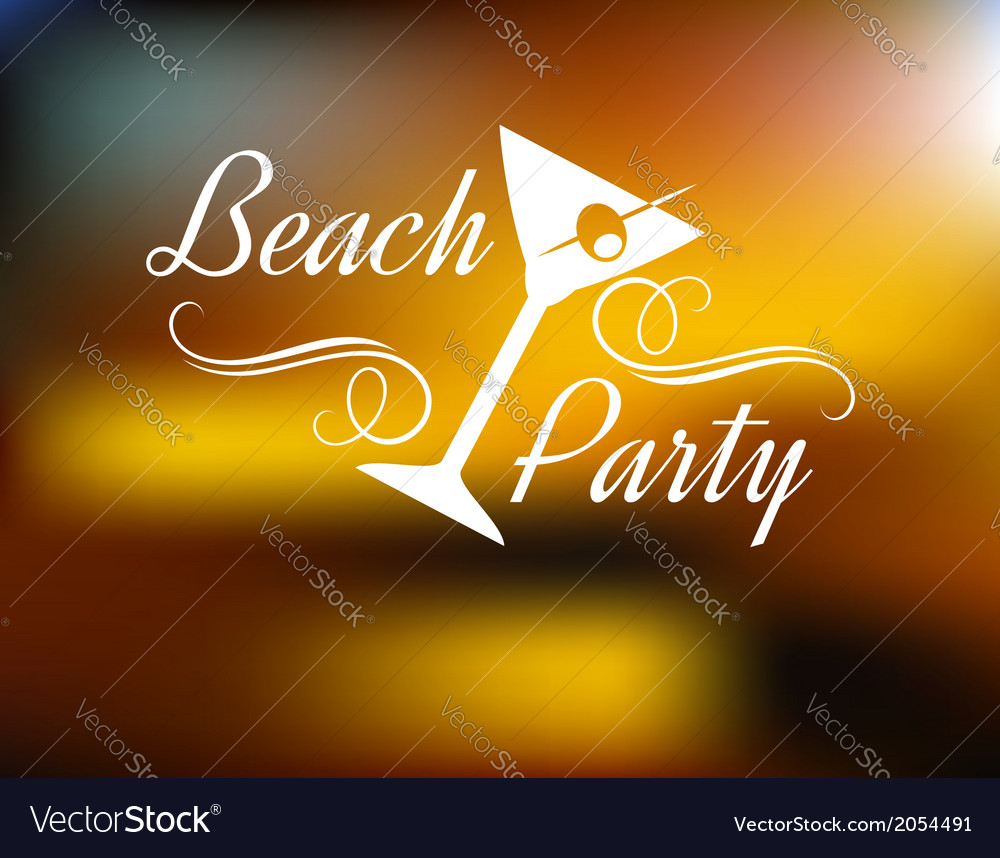 Beach party poster vector | Price: 1 Credit (USD $1)