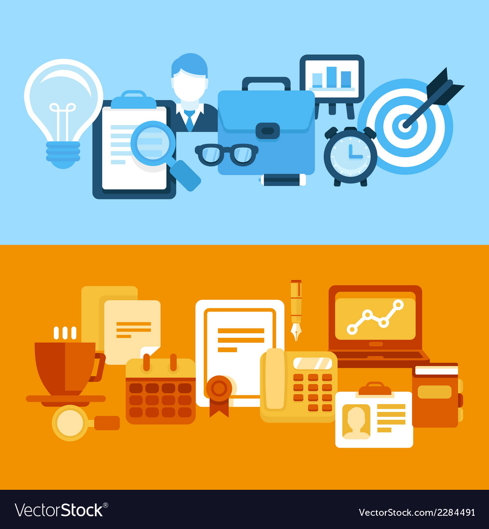 Business and managementin flat style vector | Price: 1 Credit (USD $1)