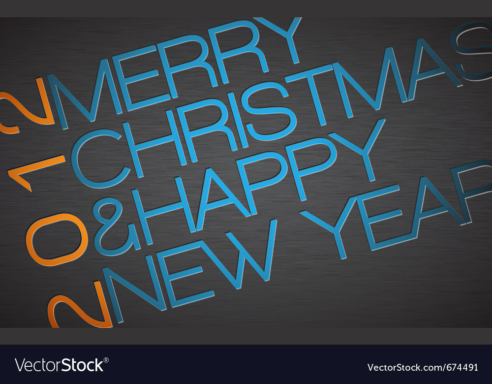 Christmas typography vector | Price: 1 Credit (USD $1)