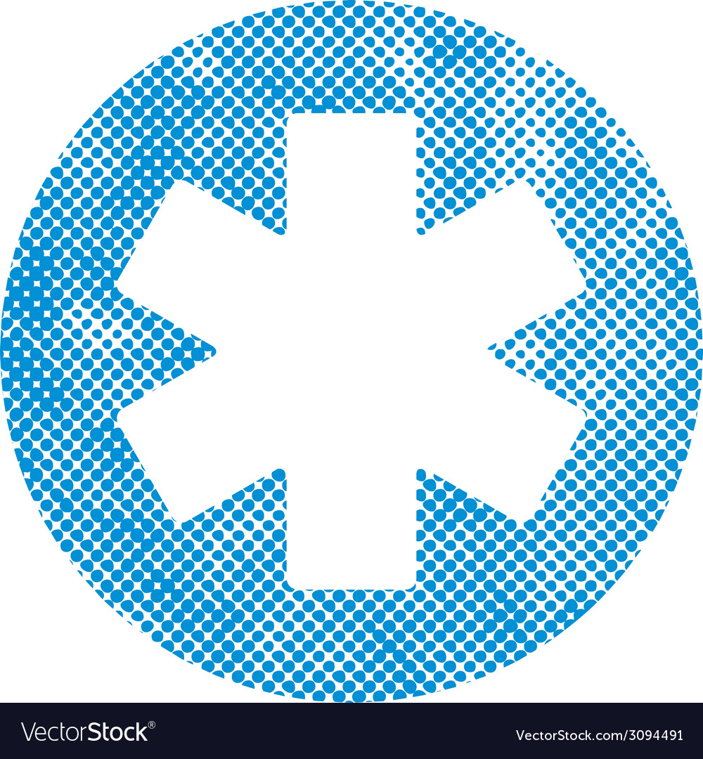 Emergency ambulance symbol with pixel print vector | Price: 1 Credit (USD $1)