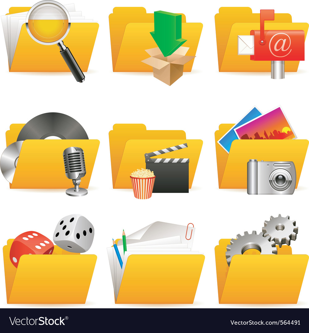 Folder icons vector | Price: 3 Credit (USD $3)