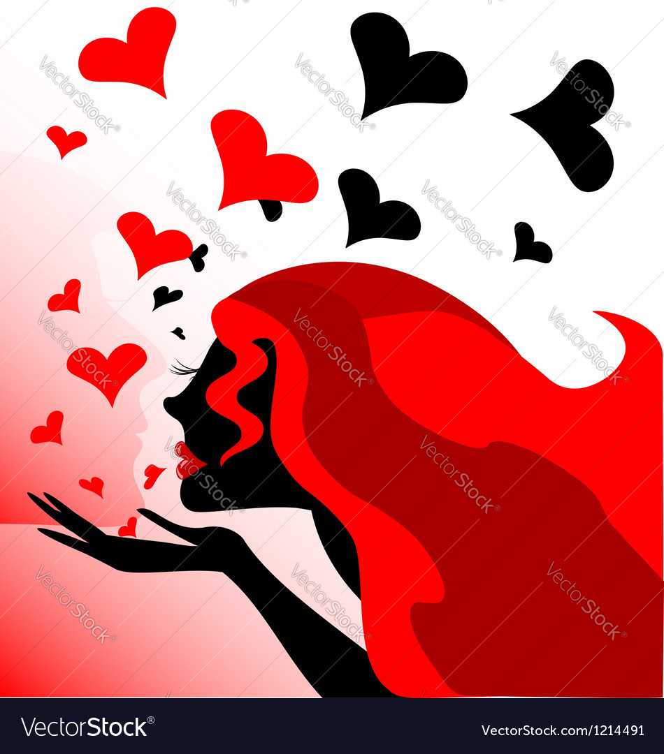 Her kiss vector | Price: 1 Credit (USD $1)