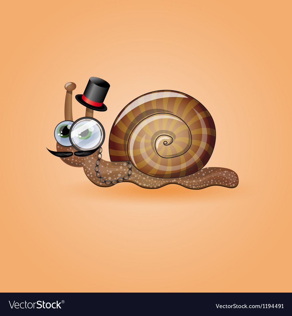 Isolated funny male snail vector | Price: 3 Credit (USD $3)