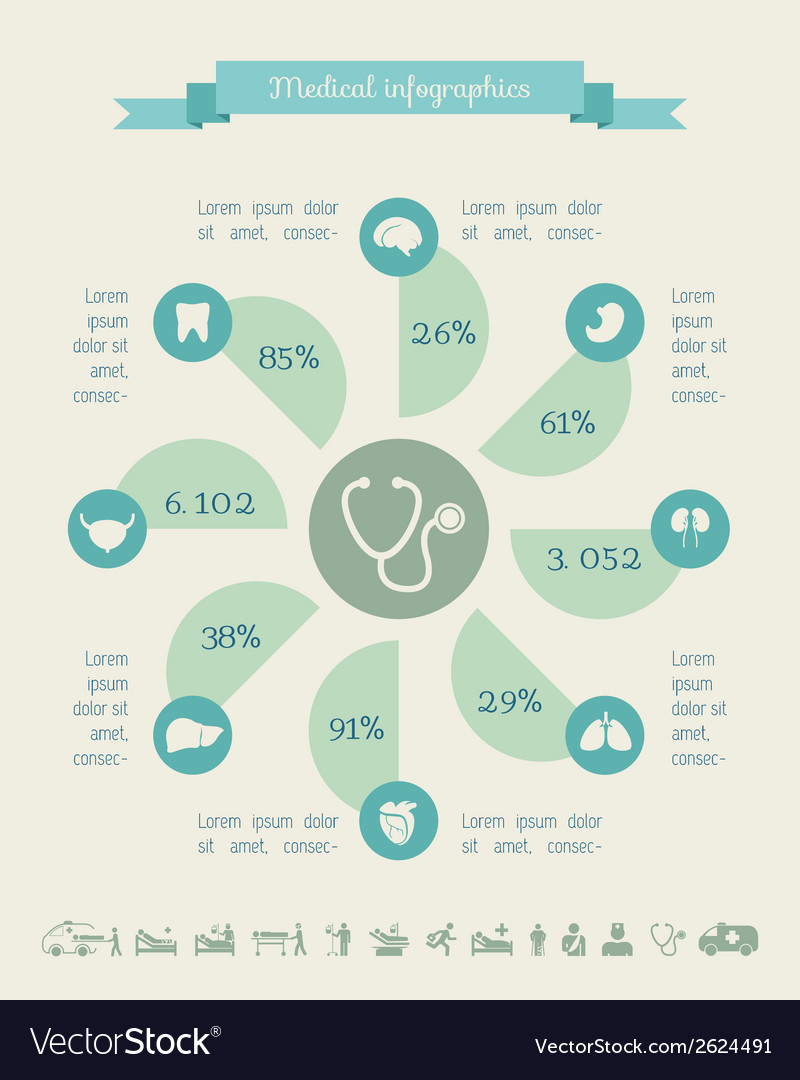 Medical infographic template vector | Price: 1 Credit (USD $1)