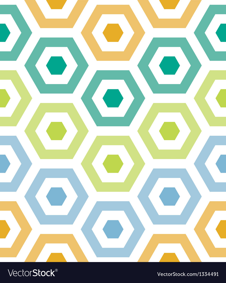 Party hexagons print pattern vector | Price: 1 Credit (USD $1)