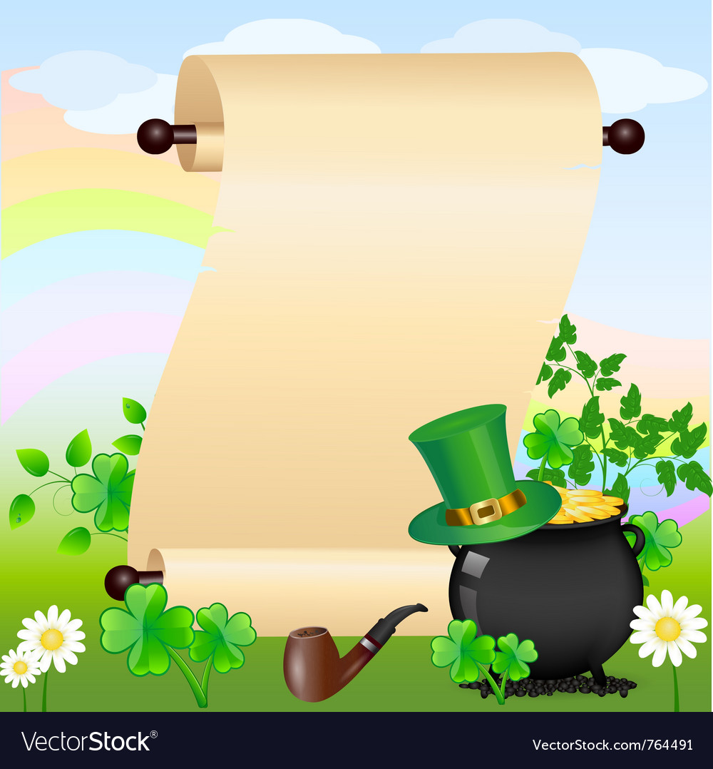 St patricks scroll vector | Price: 1 Credit (USD $1)