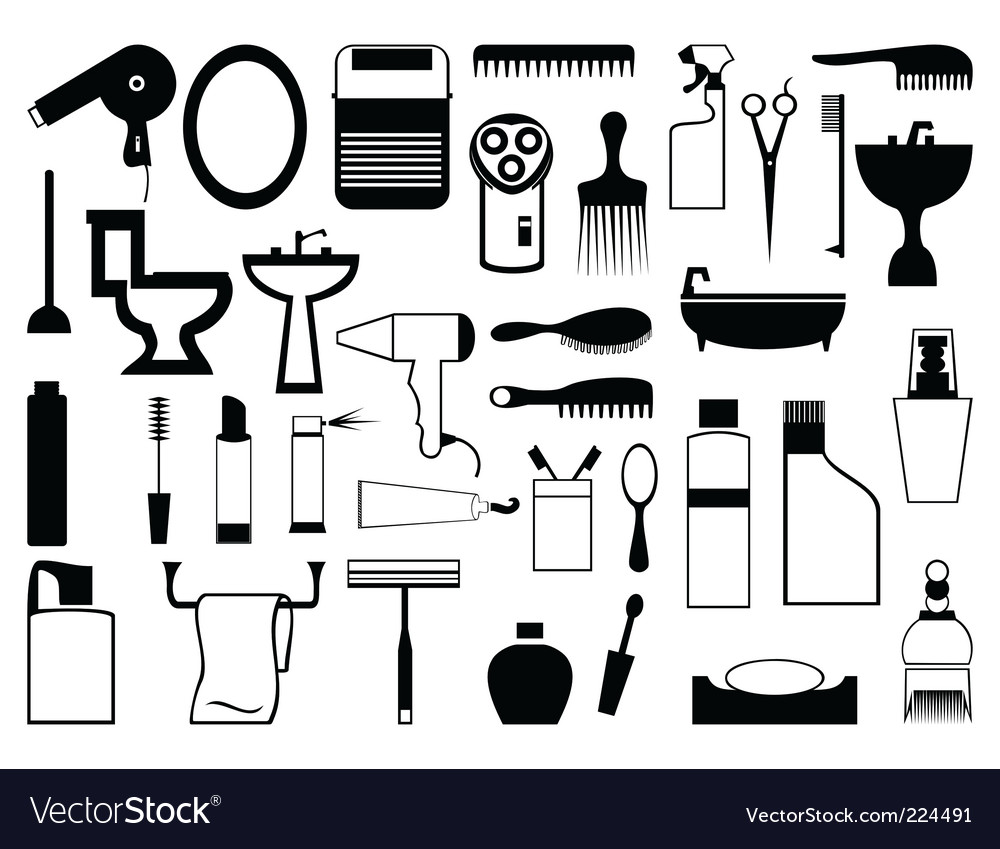 Subjects from a bathroom vector | Price: 1 Credit (USD $1)