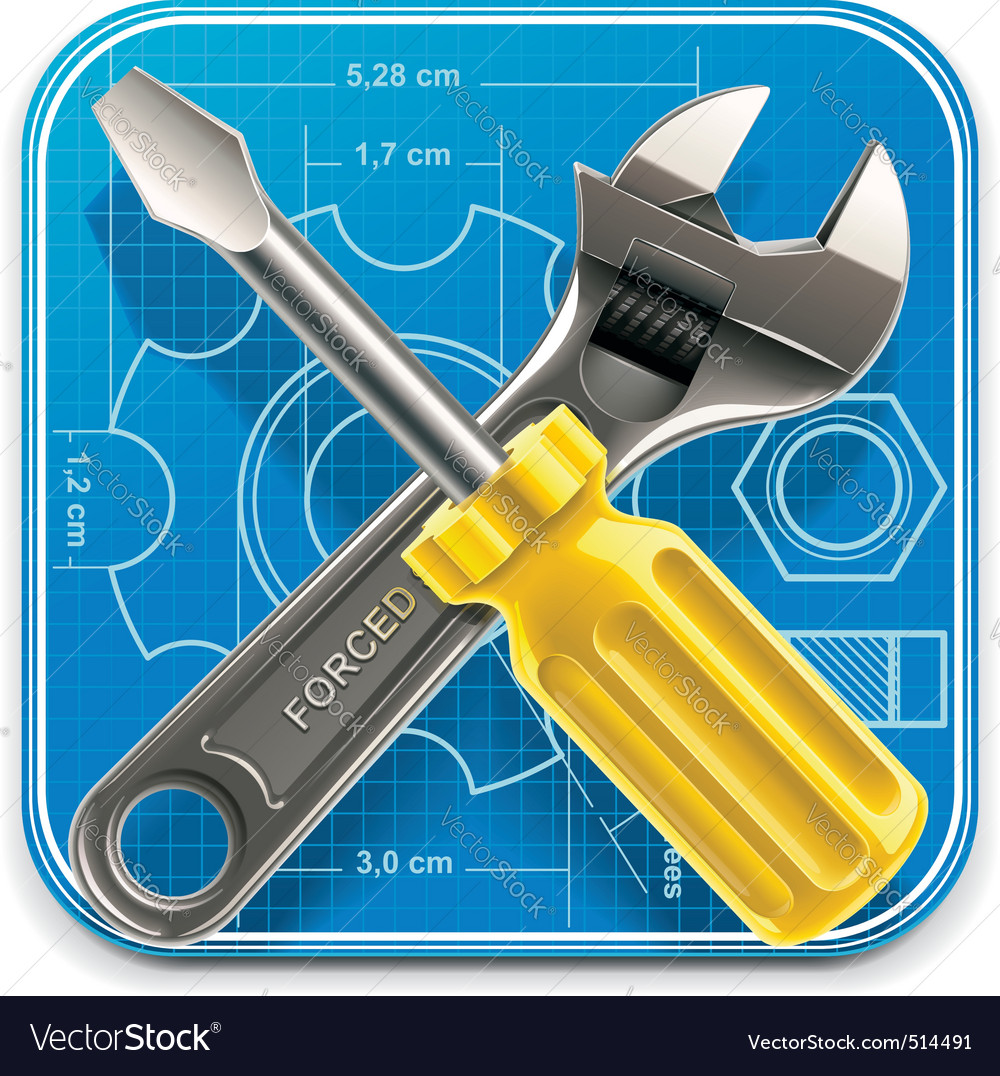 Wrench and screwdriver icon vector | Price: 3 Credit (USD $3)