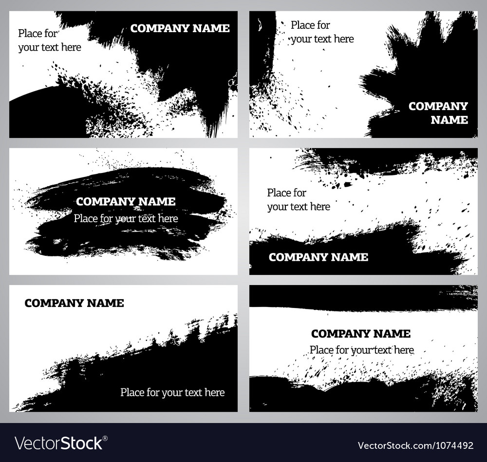 Collection horizontal business grunge cards vector | Price: 1 Credit (USD $1)