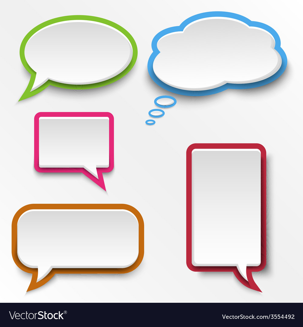 Colorful abstract speak bubbles template vector | Price: 1 Credit (USD $1)