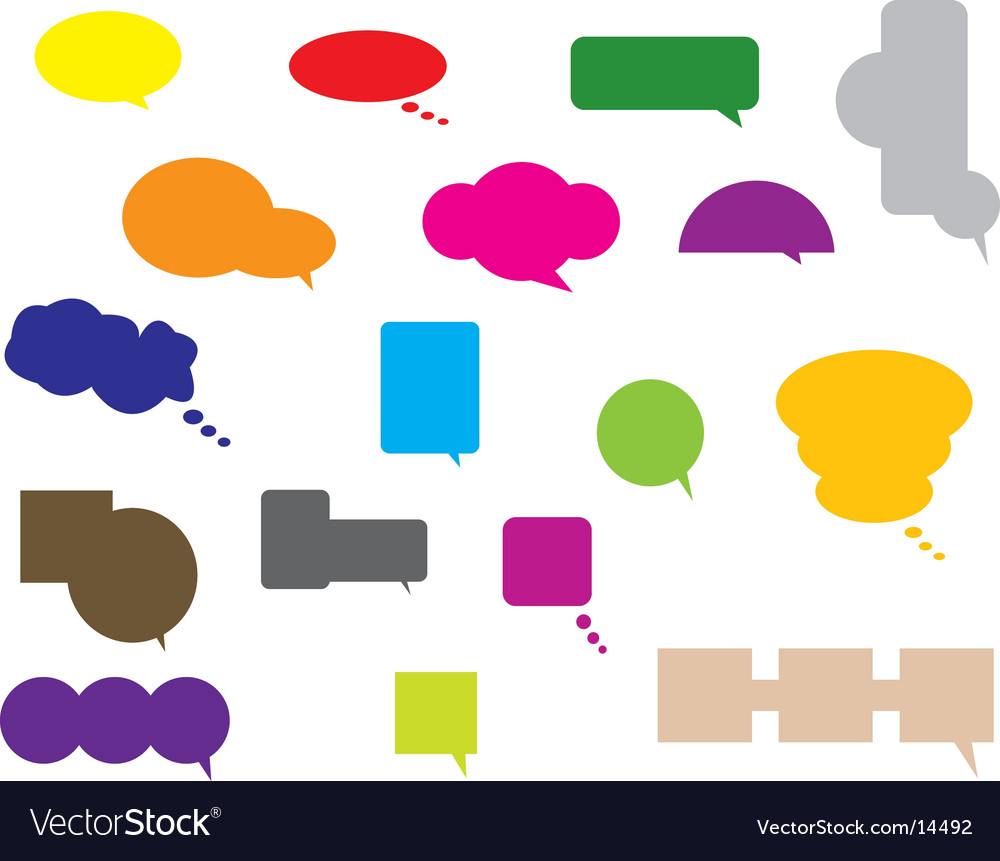 Conversation bubbles vector | Price: 1 Credit (USD $1)