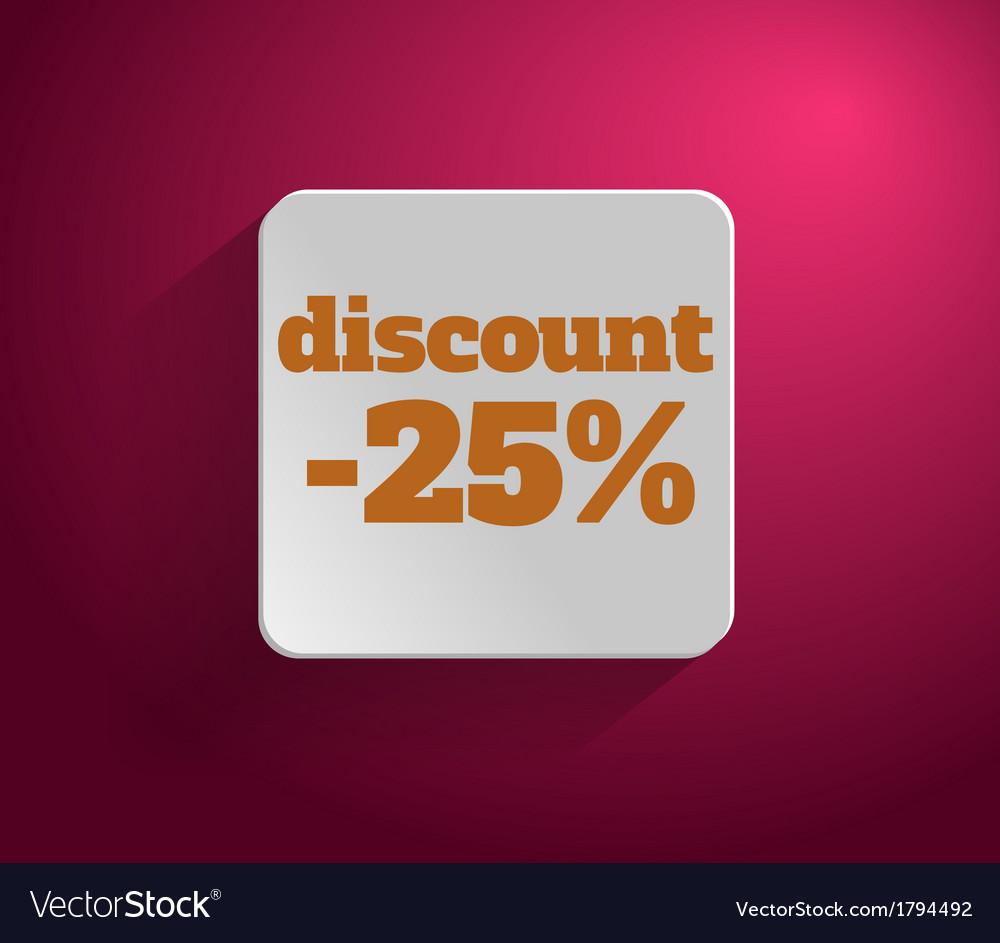 Discount text vector | Price: 1 Credit (USD $1)