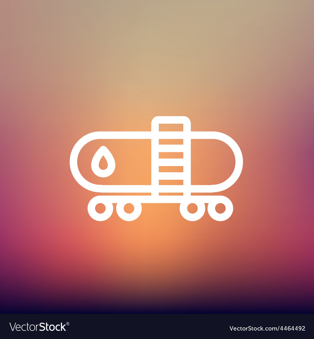 Gas and oil tank thin line icon vector   Price: 1 Credit (USD $1)