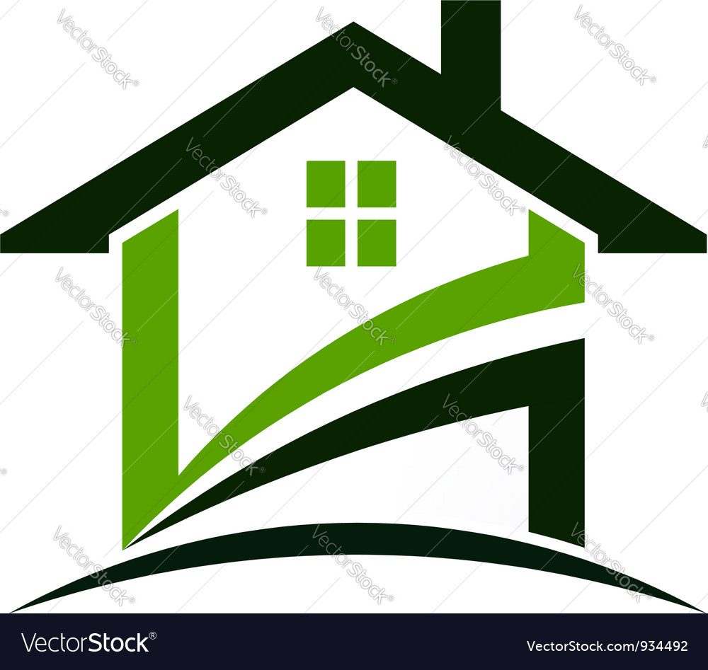 Green house logo vector