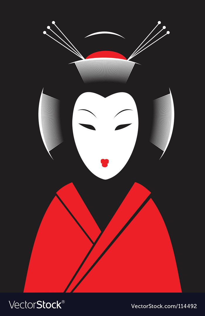 Japanese woman vector | Price: 1 Credit (USD $1)