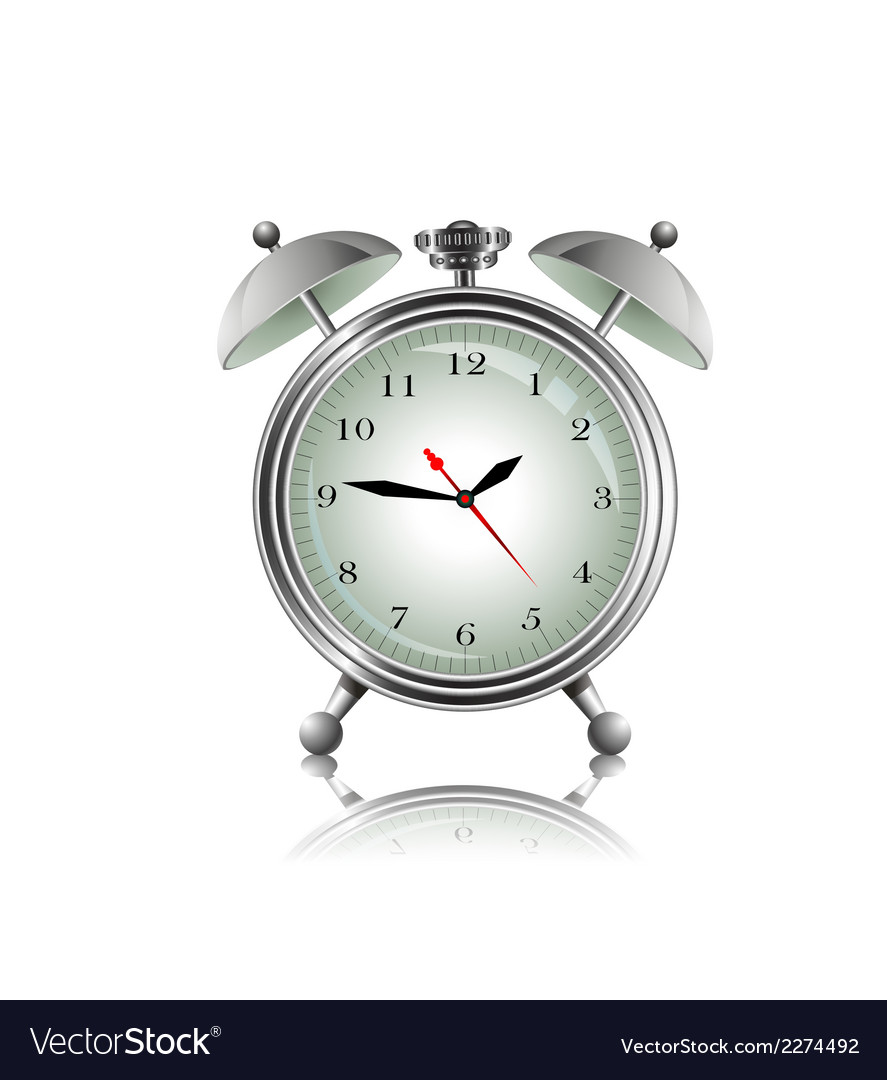 Metal alarm clock vector | Price: 1 Credit (USD $1)