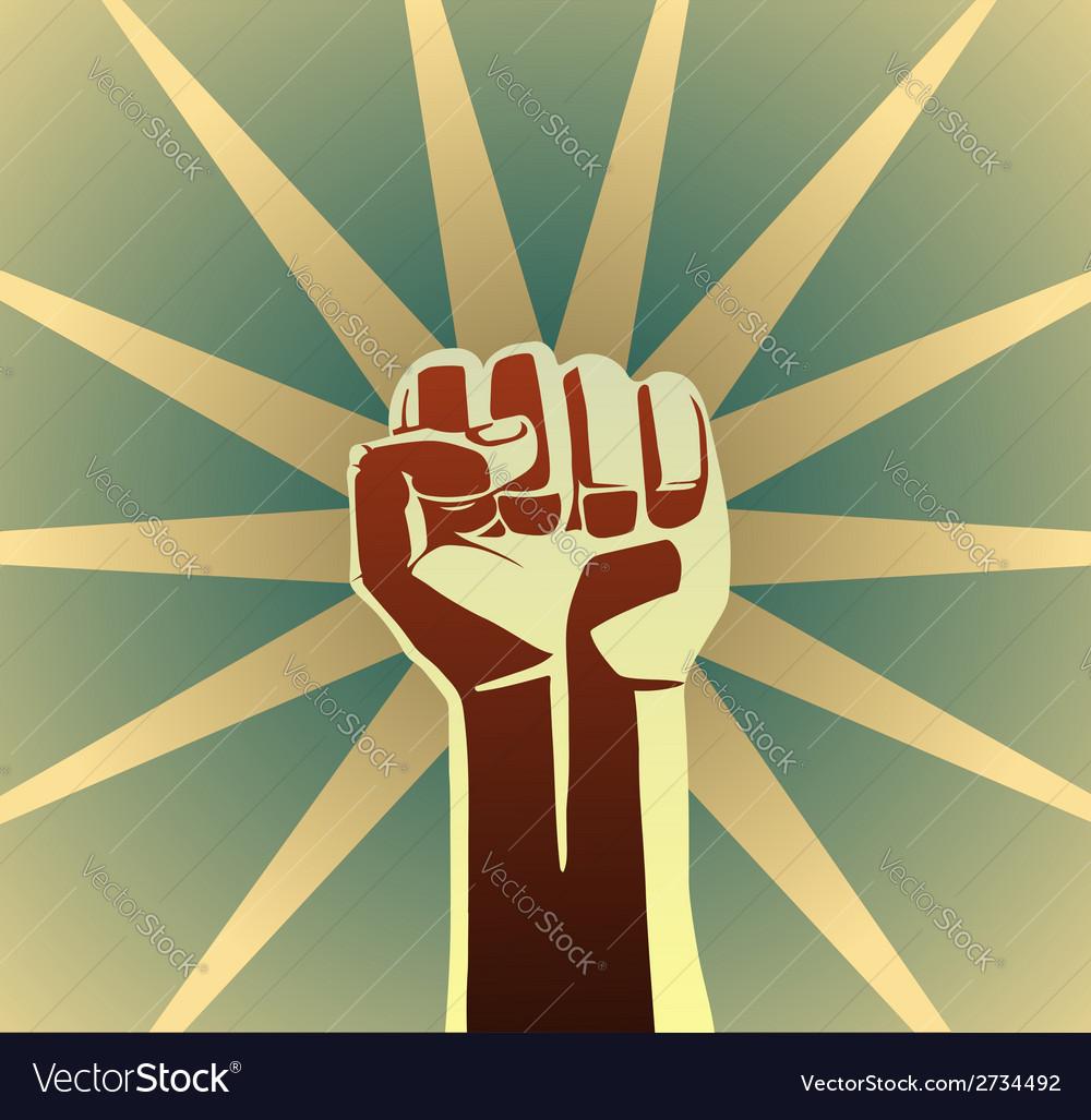 Revolution fist vector | Price: 1 Credit (USD $1)