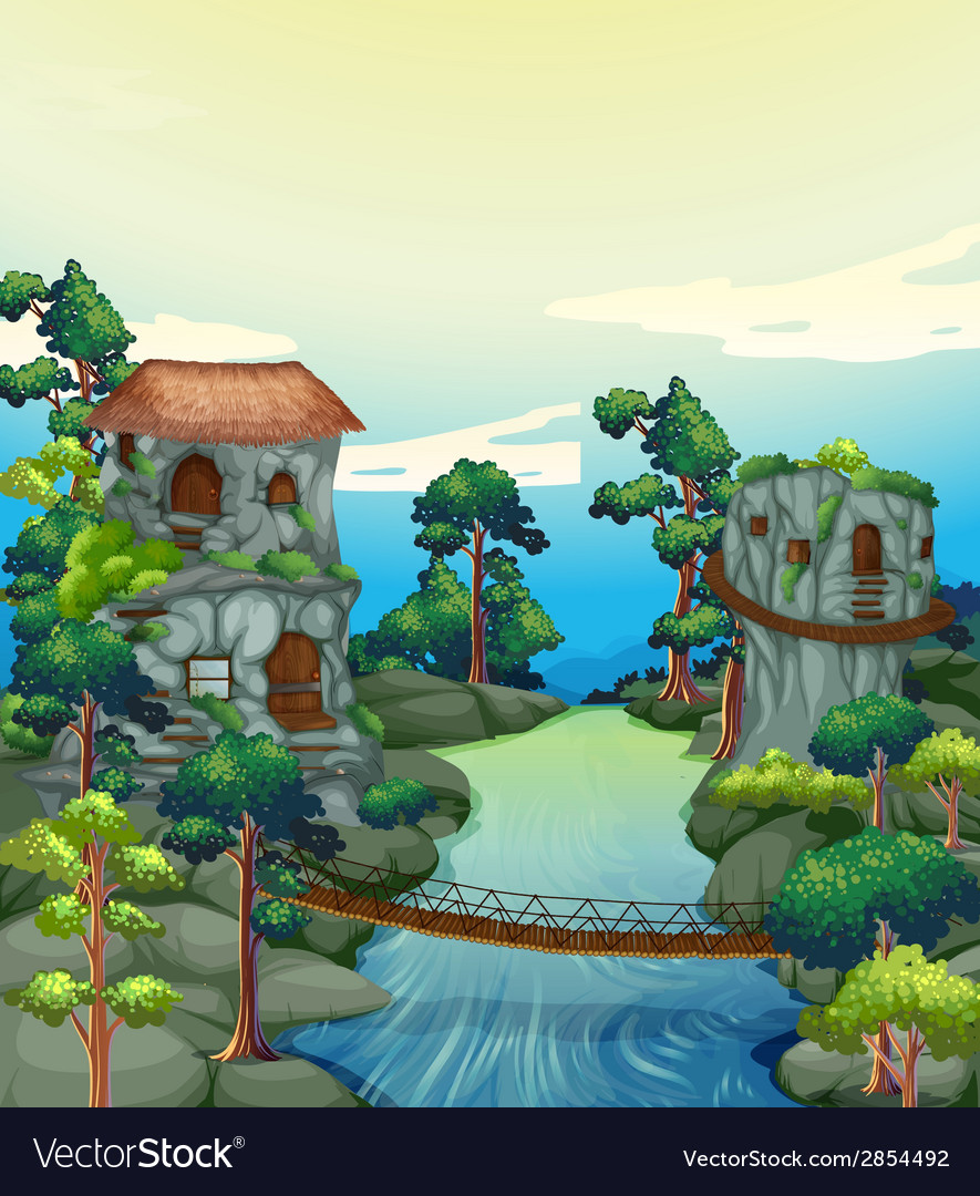River view vector   Price: 3 Credit (USD $3)