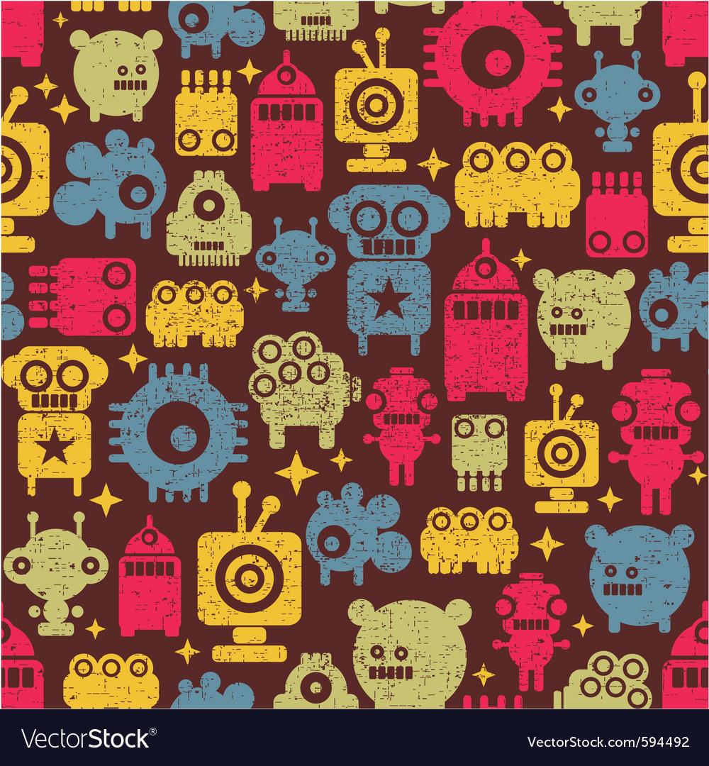 Robot pattern vector | Price: 1 Credit (USD $1)