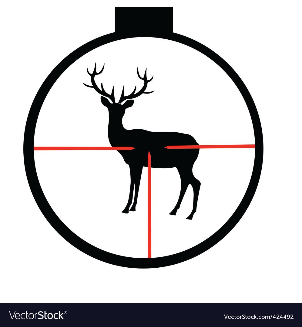 Wild deer in optical sight vector | Price: 1 Credit (USD $1)
