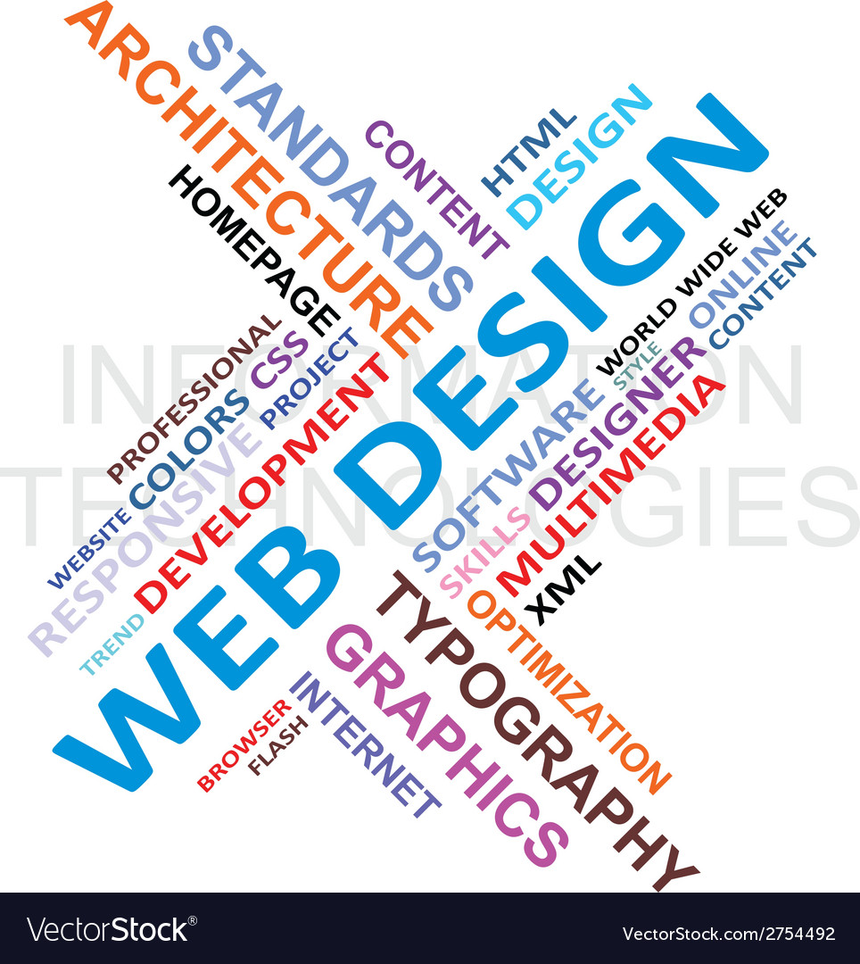 Word cloud web design vector | Price: 1 Credit (USD $1)