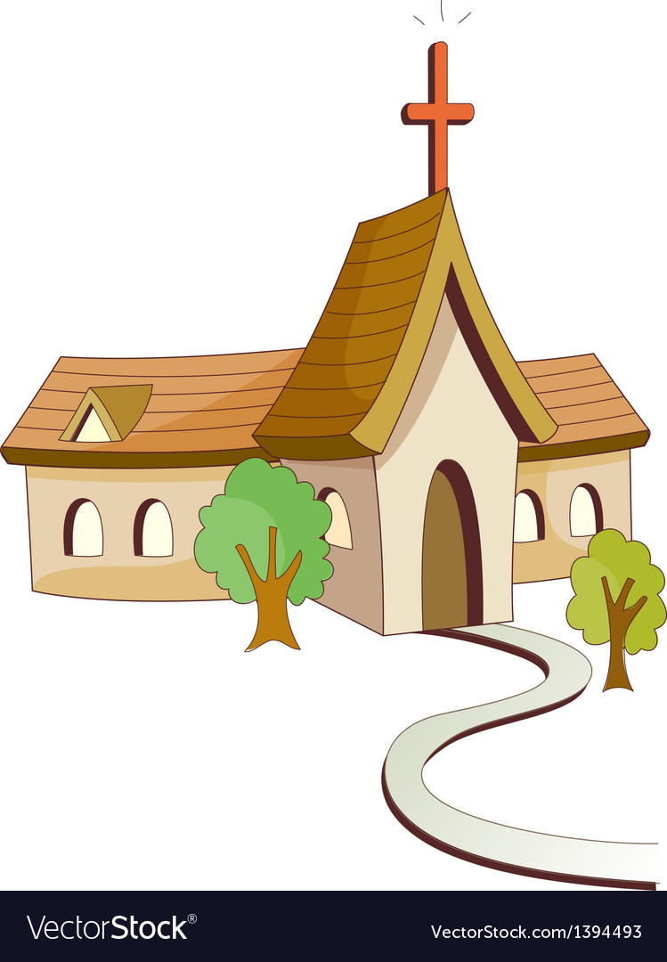 A view of church vector | Price: 1 Credit (USD $1)