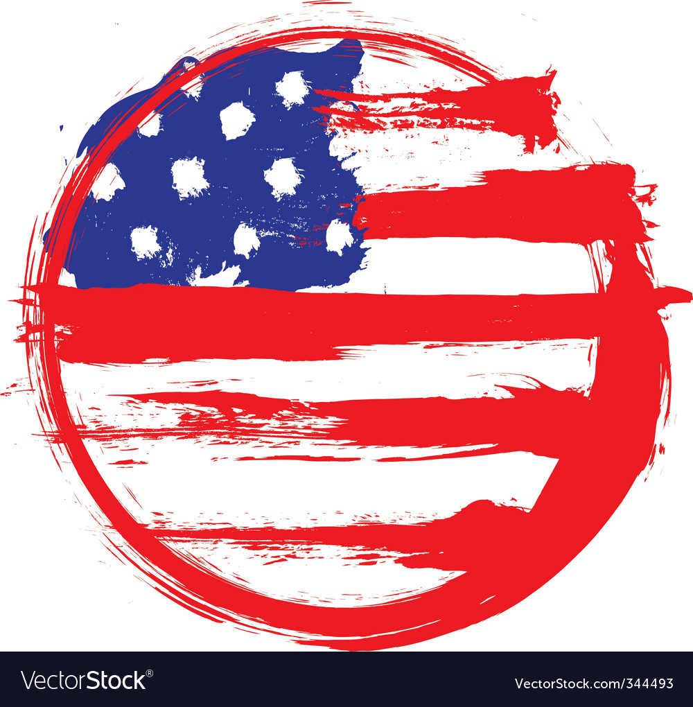 America circle flag vector | Price: 1 Credit (USD $1)