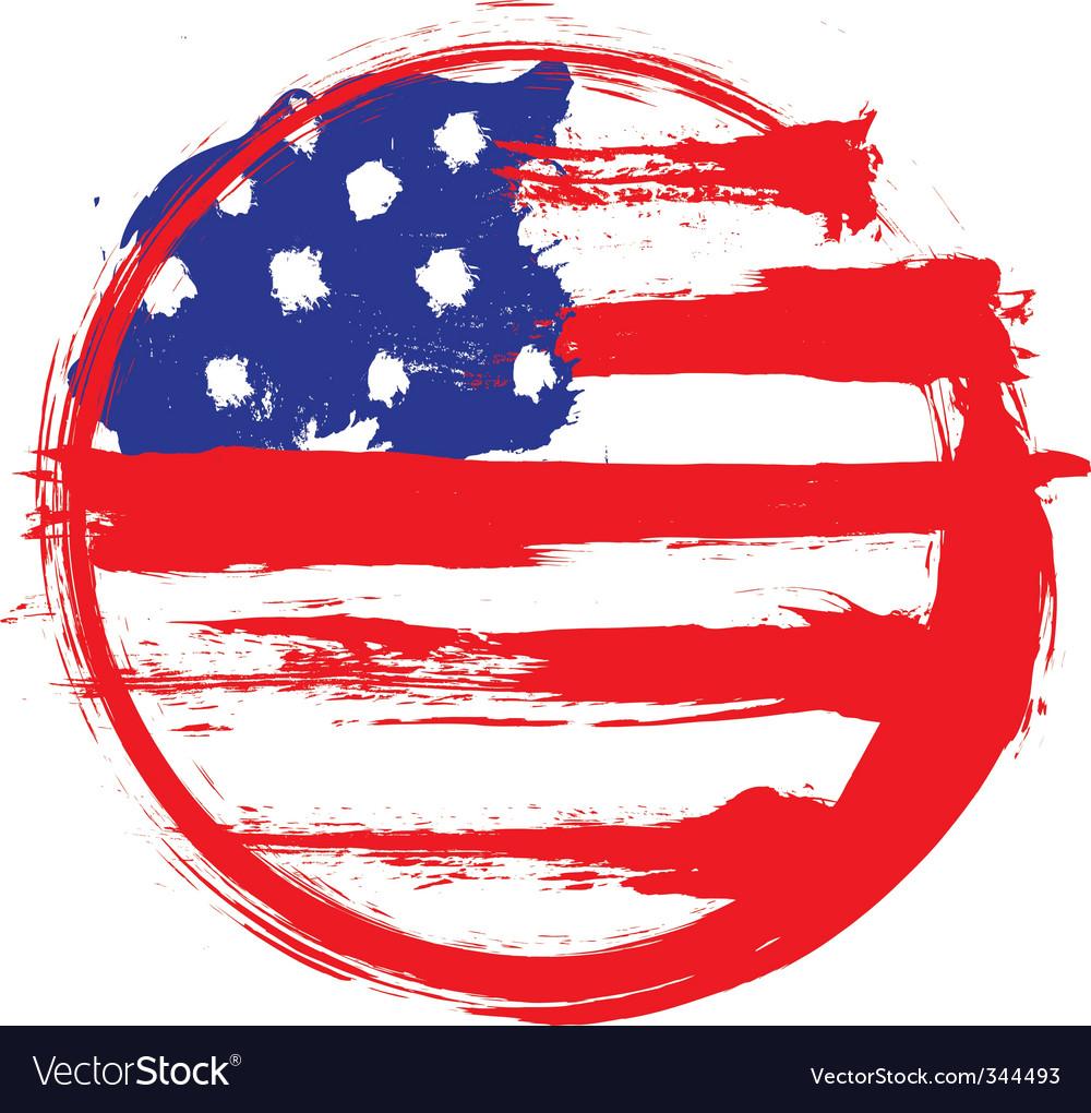America circle flag vector | Price: 1 Credit (USD $1)
