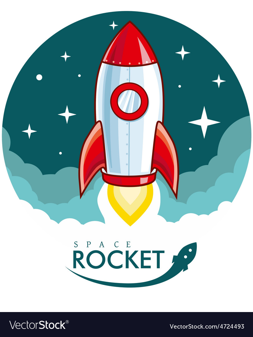 Cartoon rocket vector | Price: 3 Credit (USD $3)