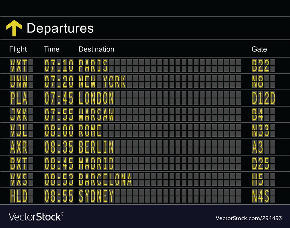Departures vector | Price: 1 Credit (USD $1)