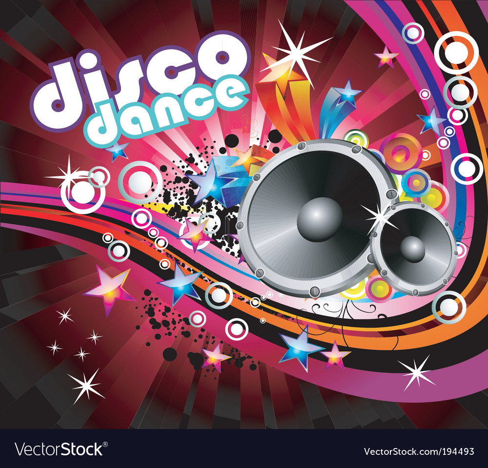Disco colorful flyer background vector | Price: 3 Credit (USD $3)