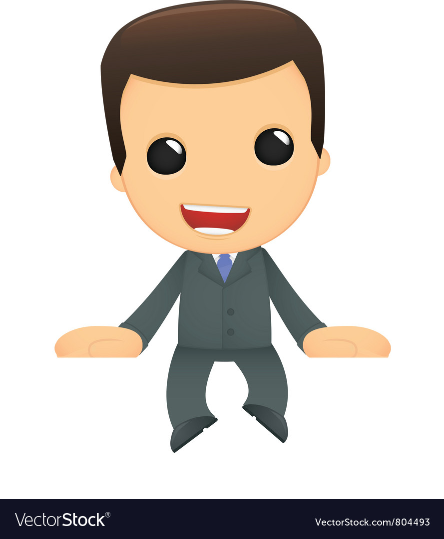 Funny cartoon boss vector | Price: 1 Credit (USD $1)