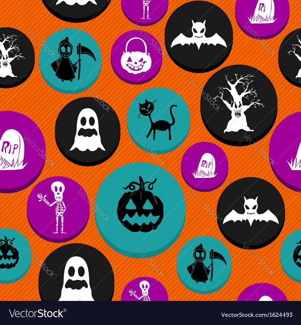 Happy halloween elements seamless pattern vector   Price: 1 Credit (USD $1)