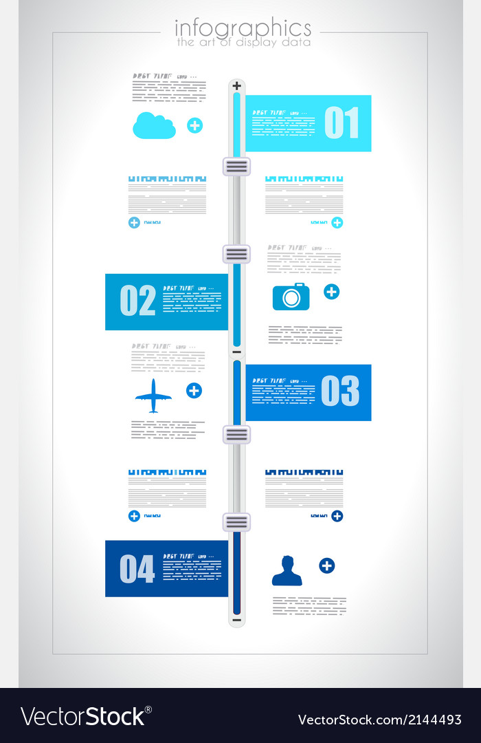 Infographic design template with paper tags i vector | Price: 1 Credit (USD $1)