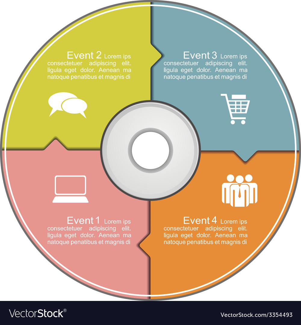 Infographics template with compact disk vector   Price: 1 Credit (USD $1)
