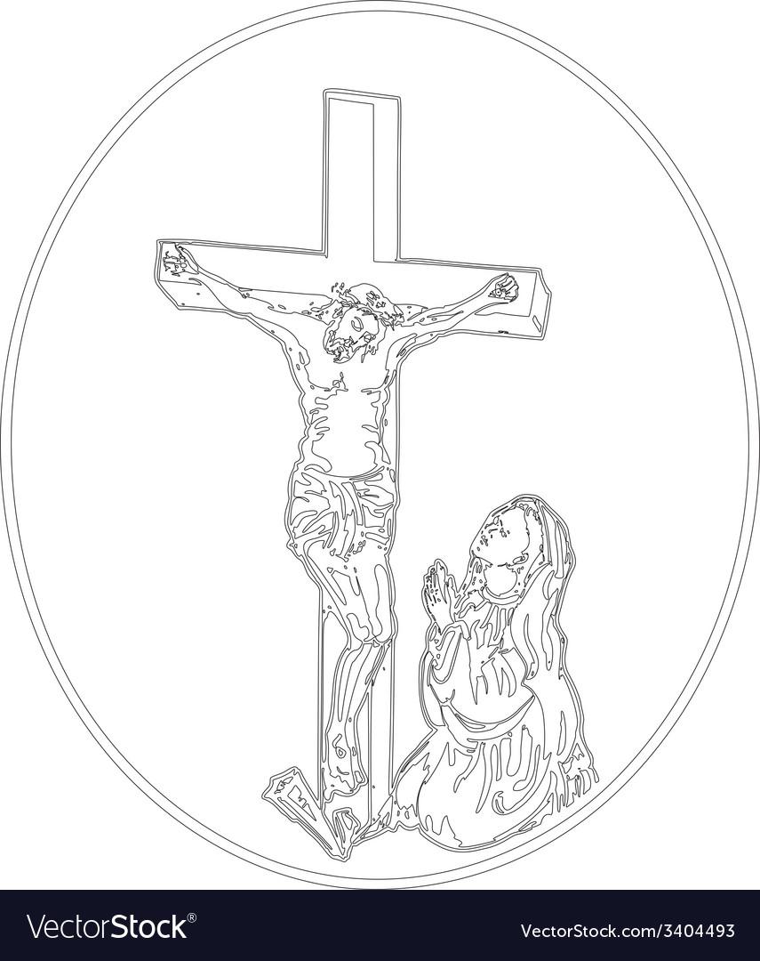 Jesus crucifixion vector | Price: 1 Credit (USD $1)