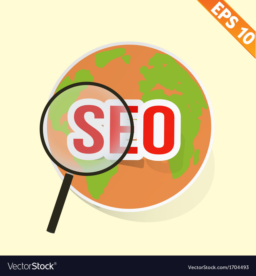 Magnifier enlarges earth for search concept - vector | Price: 1 Credit (USD $1)
