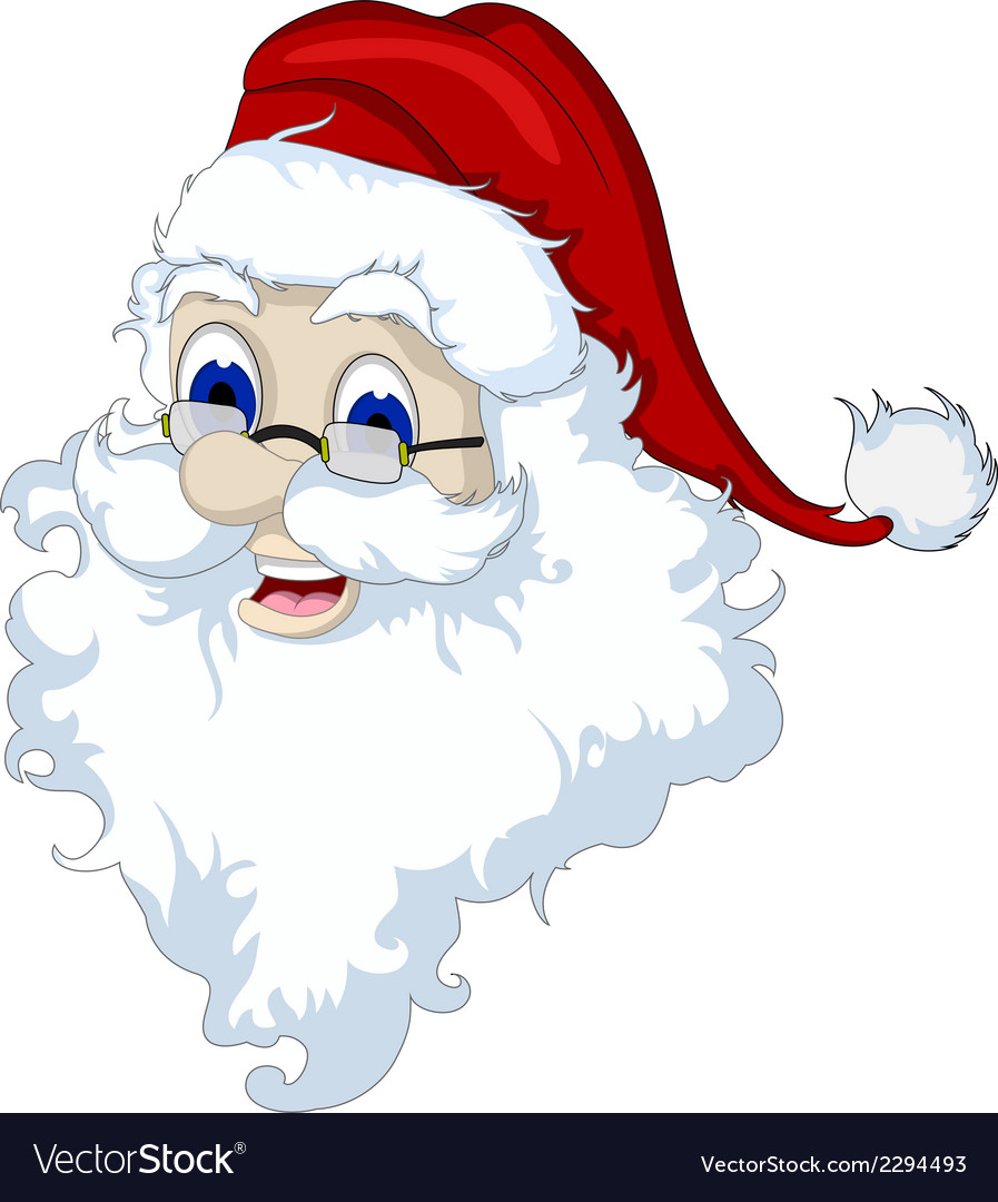 Santa claus head isolated for you design vector | Price: 1 Credit (USD $1)
