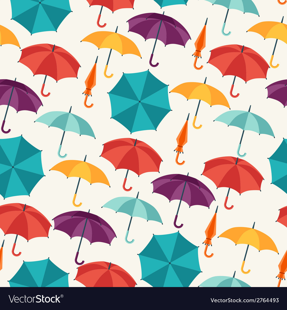 Seamless pattern with cute multicolor flat vector | Price: 1 Credit (USD $1)